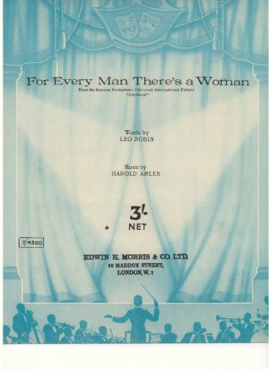 For every man there's a woman - Old Sheet Music by Morris