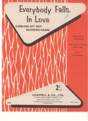 Everybody falls in love - Old Sheet Music by Chappell