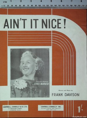 Ain't it nice - Old Sheet Music by Campbell Connelly