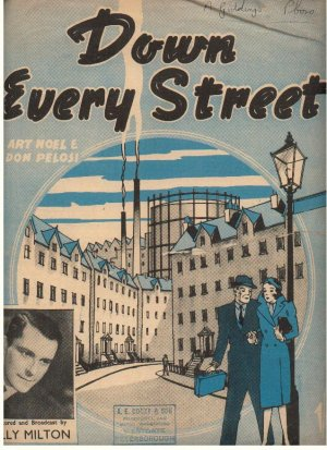 Down Every street - Old Sheet Music by Cinephonic