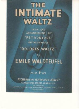The intimate waltz - Old Sheet Music by Ascherberg Hopwood & Crew