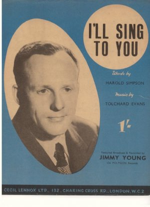 I'll sing to you - Old Sheet Music by Cecil Lennox