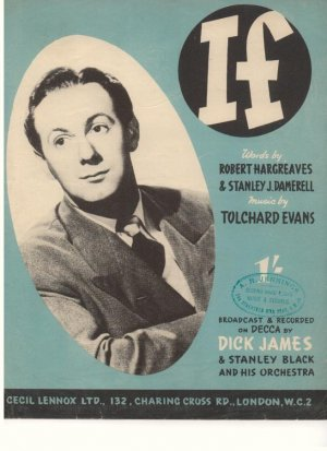 If - Old Sheet Music by Cecil Lennox