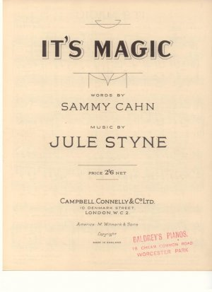 It's magic - Old Sheet Music by Campbell Connelly