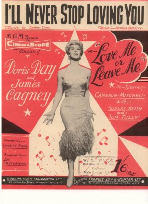 I'll never stop loving you - Old Sheet Music by Francis Day & Hunter