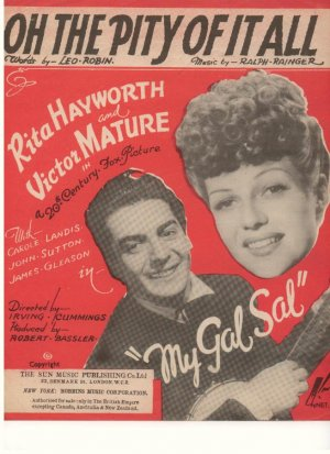 Oh the pity of it all - Old Sheet Music by Sun