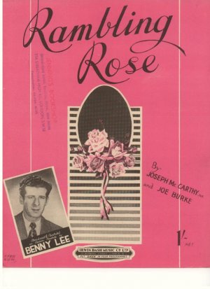 Rambling rose - Old Sheet Music by Dash