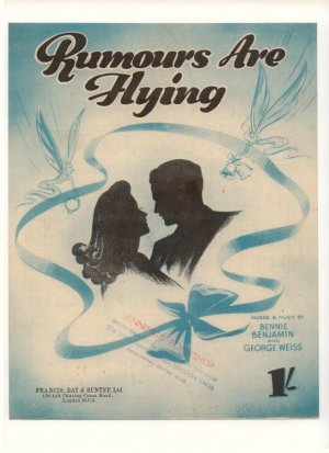 Rumours are flying - Old Sheet Music by Francis Day & Hunter