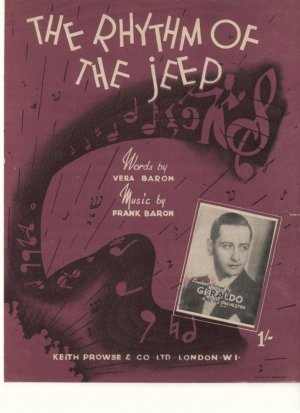 The rhythm of the jeep - Old Sheet Music by Prowse