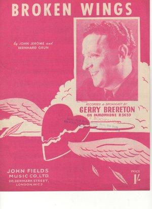 Broken wings - Old Sheet Music by John Fields