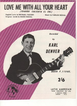 Love me with all your heart - Old Sheet Music by Latin American