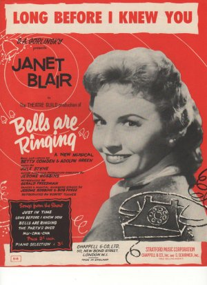 Long before I knew you - Old Sheet Music by Chappell