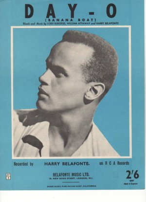 Day O - Old Sheet Music by Belafonte