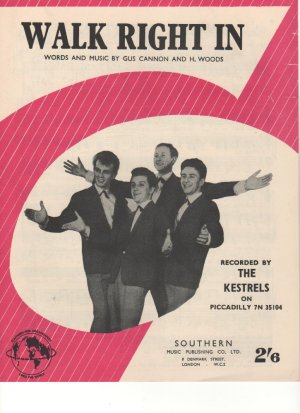 Walk right in - Old Sheet Music by Southern