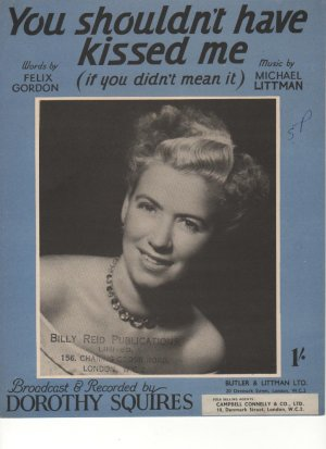 You shouldn't have kissed me - Old Sheet Music by Southern