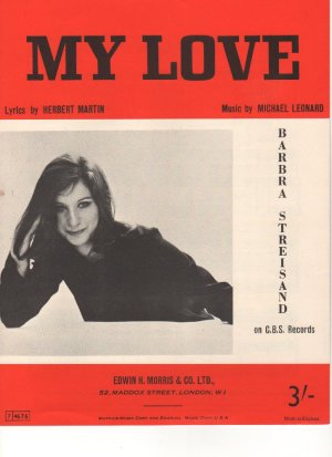 My love - Old Sheet Music by Morris