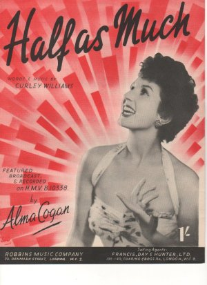 Half as much - Old Sheet Music by Robbins