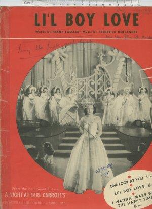 Li'l boy love - Old Sheet Music by Victoria Music Publishing Co Ltd
