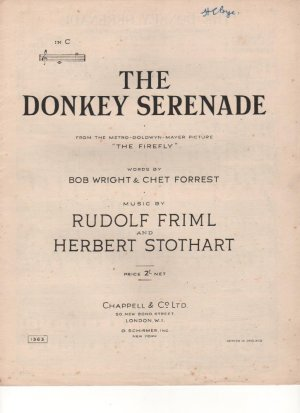 The donkey serenade - Old Sheet Music by Chappell