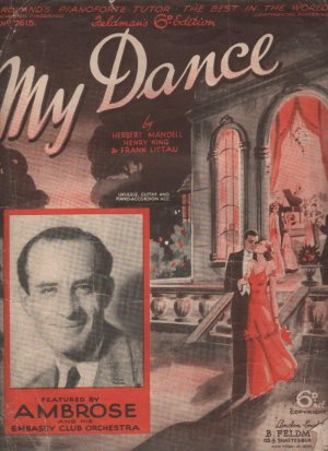 My dance - Old Sheet Music by Feldman