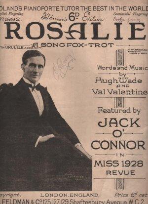 Rosalie - Old Sheet Music by Feldman