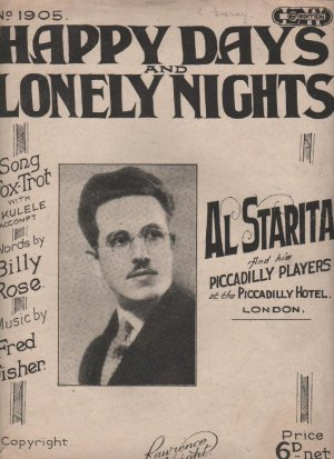 Happy days and lonely nights - Old Sheet Music by Lawrence Wright