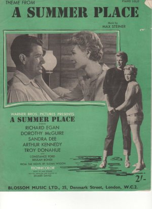 A summer place - Old Sheet Music by Blossom