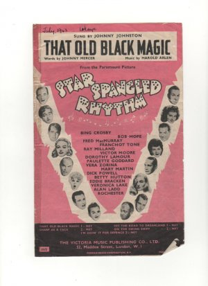 That old black magic - Old Sheet Music by Victoria