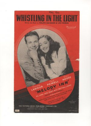 Whistling in the light - Old Sheet Music by Victoria