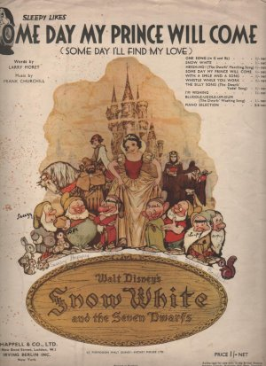 Some day my prince will come - Old Sheet Music by Chappell