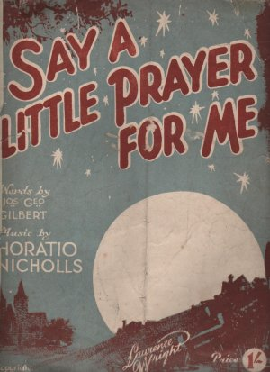 Say a little prayer for me - Old Sheet Music by Lawrence Wright