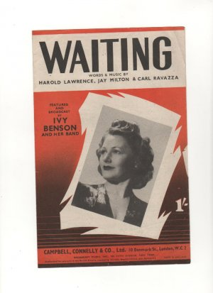 Waiting - Old Sheet Music by Campbell Connelly
