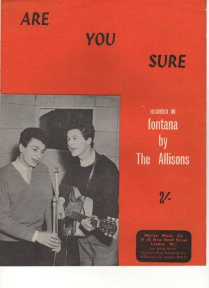 Are you sure - Old Sheet Music by Marlyn