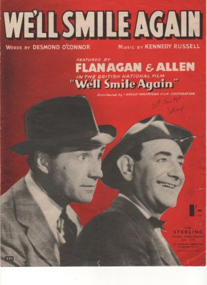 We'll smile again - Old Sheet Music by Sterling