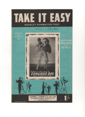 Take it easy - Old Sheet Music by Campbell Connelly