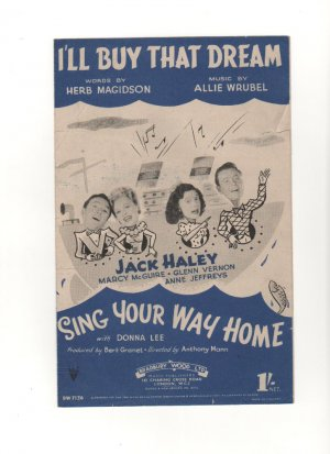 I'll buy that dream - Old Sheet Music by Chappell