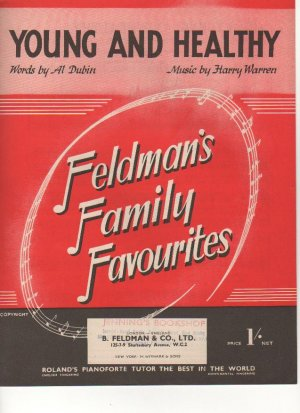 Young and healthy - Old Sheet Music by Feldman