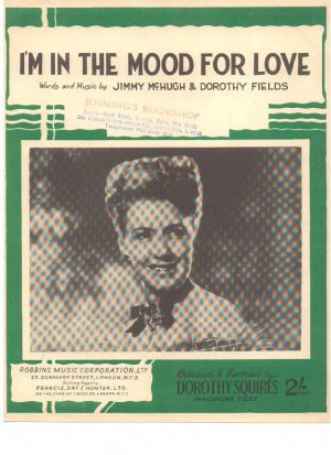 I'm in the mood for love - Old Sheet Music by Francis Day & Hunter