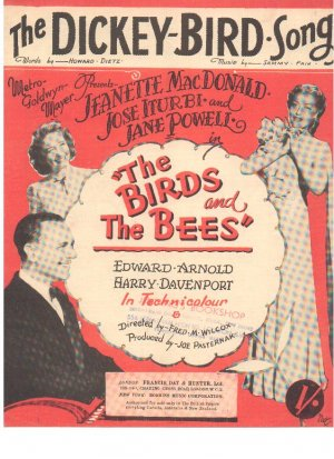 The dickey bird song - Old Sheet Music by Francis Day & Hunter