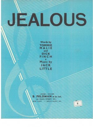 Jealous - Old Sheet Music by Feldman