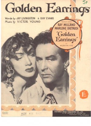 Golden earrings - Old Sheet Music by Victoria