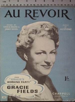 Au revior - Old Sheet Music by Chappell