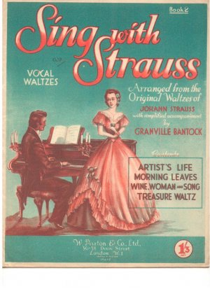 Sing with Strauss - Old Sheet Music by Paxton