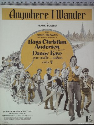 Anywhere I wander - Old Sheet Music by Morris