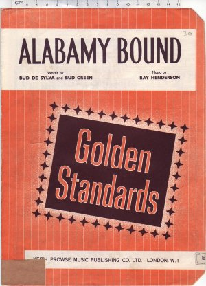 Alabamy bound - Old Sheet Music by Prowse