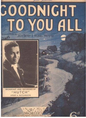 Goodnight to you all - Old Sheet Music by Macmelodies