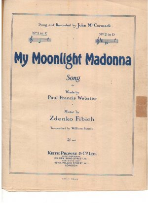 My moonlight Madonna - Old Sheet Music by Prowse