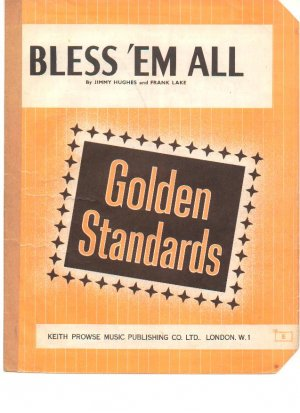 Bless 'em all - Old Sheet Music by Prowse