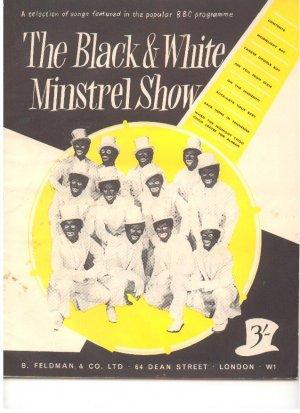The Black & White Minstrell Show - Old Sheet Music by Feldman