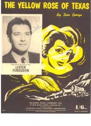 The yellow rose of Texas - Old Sheet Music by Valando